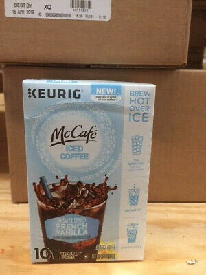 McCafe Brew Over Ice French Vanilla Coffee K-Cup, 10 Pods Best by