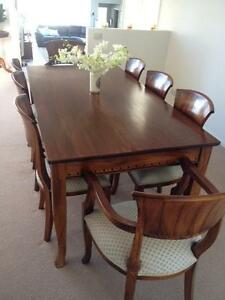 9 Piece Mahogany Dining Setting Geelong Geelong City Preview