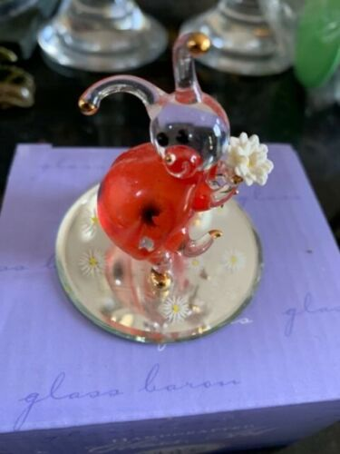 BLOWN GLASS RED Handcrafted Lady Bug