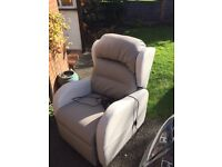 Practically Unused Electric Rise And Recline Armchair + Optional Matching 2 Seat Sofa
