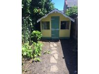 Beautiful, large kids/children's wooden playhouse with furniture