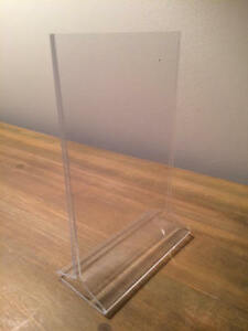 Durable, High Quality Acrylic Sign Holders