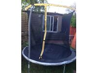 Sportspower 8ft Trampoline and Sky Ring Enclosure in very good condition.