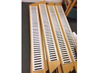 Pair Retail SLOT WALLING Displays x2 For Shelving Beech & Laquered Steel Short