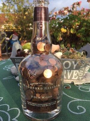 0,7 L Flasche Woodford Reserve Whisky voller Pfennige BRD Hochzeit Geburtstag