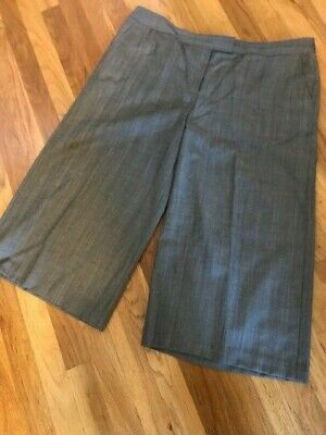 Lafayette 148 Cropped Pants Subtle Menswear Check~ Size 16~ Menswear Crop Pants