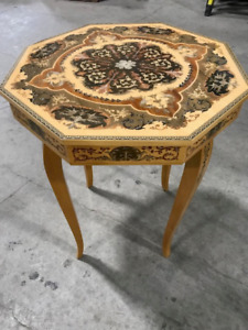 Wooden musical table or stand marquetry