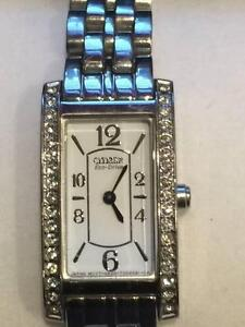 Ladies Eco-Drive Watch - stainless steel with Swarovski Crystals Jerrabomberra Queanbeyan Area Preview