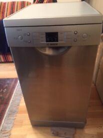 Bosch silver slimline dishwasher