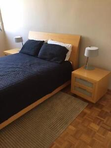 Complete Bedding Package - Timber Bed, Mattress, Bedsides & Lamps West Perth Perth City Area Preview