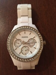 Womens White Fossil Watch