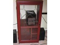 Mahogany veneer glass fronted cabinet