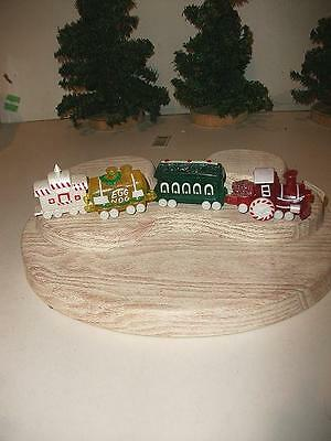 HALLMARK MERRY MINIATURE CANDY TRAIN 4 PC SET 1988-90 MINI FIGURE 3 WS