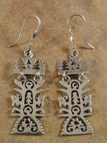 Beautiful Mexican Sterling Silver Tree of Life Earrings
