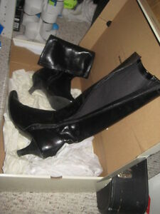 black zipper boots great condition