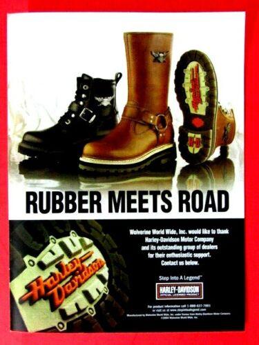 "Harley Davidson Rubber Meets Road 2005 Wolverine Original Print Ad-8.5 x 11"""