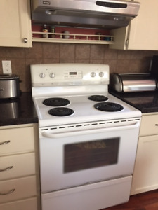 Kitchen appliances - Fridge, stove, microwave, countertop oven