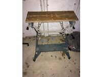 Black and Decker vintage work bench 1970, aluminium frame