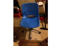 Blue desk swivel chair