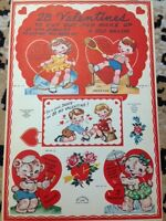 Vintage Valentines book of 28 cut outs