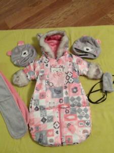 Habit de neige et accessoires Souris Mini pour nouveau-né fille