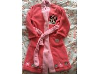 Minnie Mouse Dressing Gown NEW with tags Age 5-6 Years