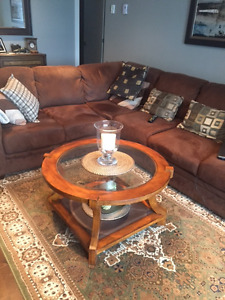 SECTIONAL SOFA WITH CENTER TABLE AND CARPET