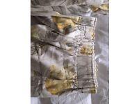Laura Ashley Yellow Hydrangea Camomile Pencil Pleat Curtains