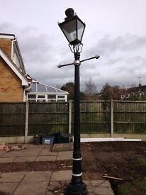 Cast Iron street light lamp post.