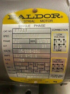 Baldor L1203 Single Phase Motor