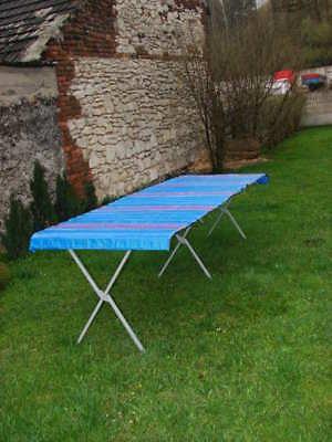 Klapptisch Markttisch 3 m x 1,2 m Tisch Flohmarkttisch mit Rollblatt