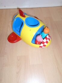 Peppa Pig airplane-post it