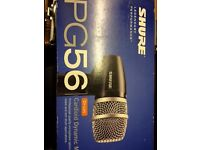 Shure Pg56 Drum Microphones X2 knock down price as new
