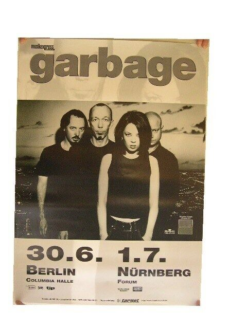 Garbage Poster Concert Band Shot Berlin