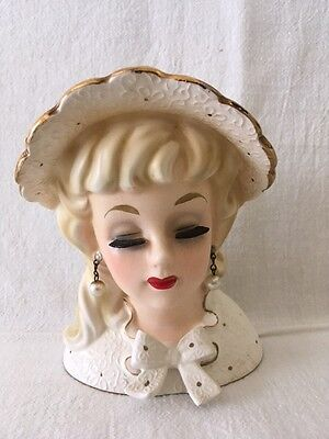 "Vintage ENESCO ""Bonnie Belles"" Head Vase / Headvase"