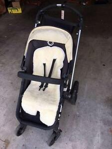 Bugaboo pusher with bassinet & cover included St Kilda East Glen Eira Area Preview