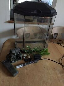 Prism Fish Tank and LOTS of accessories