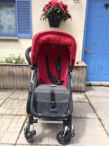 Bugaboo Cameleon Stroller with baby bassinet, car seat adapters