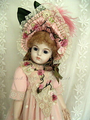 """28"""" FRENCH DOLL DRESS  ANTIQUE STYLE PATTERN ~ CHASTITY"""