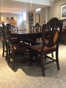 Antique Mahogany Dining room table and chair set
