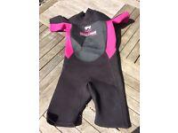 Kids Size 5 shorty wetsuit