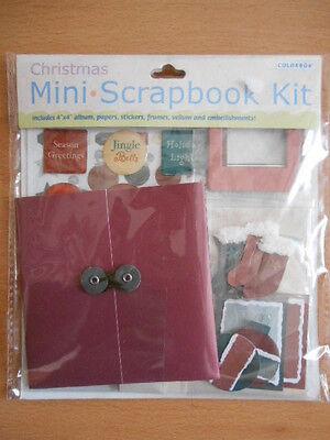 Mini Scrapbook Kit Weihnachten Bastelset