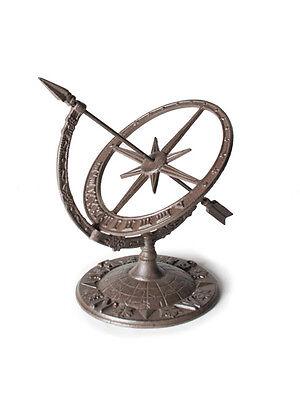 "12"" Metal Cast Iron Armillary Celestial Sphere Sundial Sun Dial Garden Decor"
