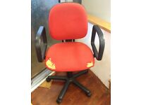 FREE Red office swivel chair