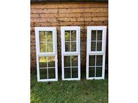 3 PVC double glazed windows for sale