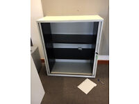 office furniture 1.2 meter white tambour cupboards