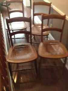 wood chairs with kane seats London Ontario image 2