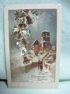 Post Card 1913 John Winsch Best Christmas