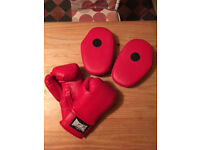 Boxing gloves and pads - Lonsdale - Hardly used
