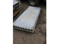 Second hand corrugated roofing sheets 6ft Long x 2ft wide cover ex mod / army . No holes